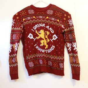 Game of Thrones Burgundy Sweater